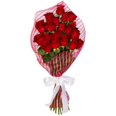 Букет «Бордовая роза»